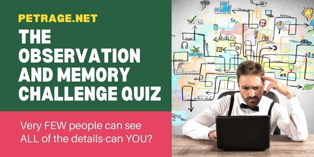 The Observation and Memory Challenge Quiz petrage