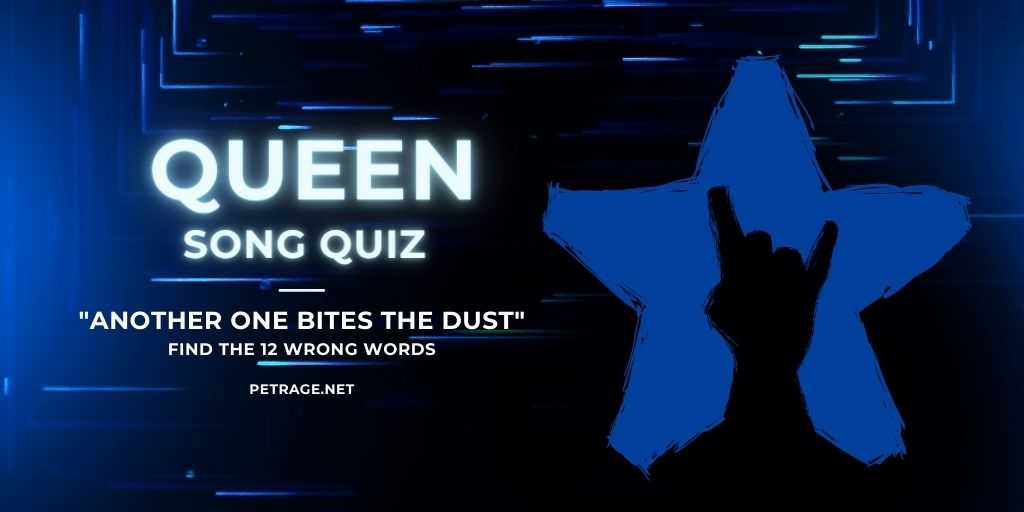 queen song quiz another one bites the dust petrage